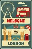 London. English Card with British theme. Vector Illustration stock illustration