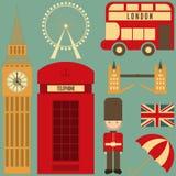 London. English Icons Set with British theme. Vector Illustration royalty free illustration