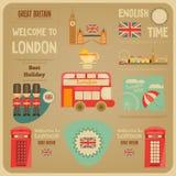 London. English Poster with British theme. Vector Illustration vector illustration