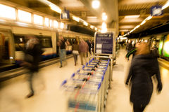 London Euston train station Stock Photography