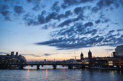 London evening cityscape Royalty Free Stock Photos