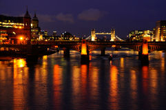 The London evening fires Stock Image