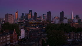London Evening Skyline Timelapse stock footage