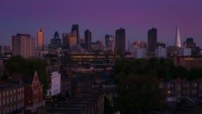 London Evening Skyline Timelapse stock footage