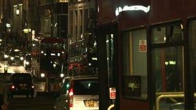 London evening traffic stock video