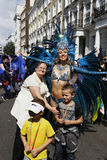 London Events. London , UK - Aug 29, 2016: Performers take part in the second day of Notting Hill Carnival, largest in Europe. Carnival takes place over two days Stock Image