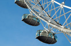 London eye. The London Eye, sometimes known as the Millenium Wheel; one of the UK's top tourist attractions Stock Photography
