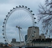 01-29-2017 London - London Eye lizenzfreies stockbild