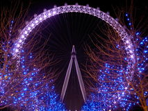 London Eye. A starry night through the eye Stock Photos