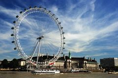 The London Eye. Or Millenium Wheel Stock Photo