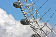 London Eye 2. View of the London Eye with blue sky on background Royalty Free Stock Photo