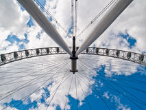 London eye. The famous London Eye from an unusual perspective Royalty Free Stock Photography