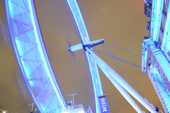 London Eye. Wheel river tourism thames travel city sky night skyline bridge big blue Royalty Free Stock Photography