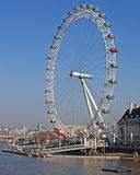 London Eye. A view of the London Eye (also known as the Millenium Eye and London Wheel) in London, England on a cold but clear Winter's day Royalty Free Stock Photos