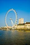 London Eye. The London Eye and Thames river, London, England stock photo