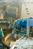 London Eye. View from the London Eye, London, England Royalty Free Stock Images