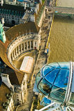 London Eye. View from the London Eye, London, England Royalty Free Stock Photography