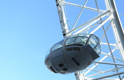 London Eye. A close up of one of the London Eye pods Stock Image