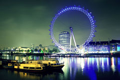London eye. And the Thames river Stock Images