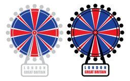London eye. Vector illustration of London eye Stock Photos