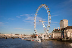 London Eye. The London Eye is a giant Ferris wheel on the South Bank of the River Thames in London Stock Photos