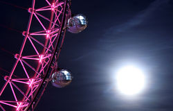 London Eye. At full moon, closeup Stock Photos