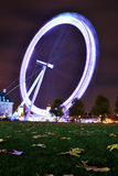 The London Eye. (Millennium Wheel) at a height of 135 metres (443 ft), is the biggest Ferris wheel in Europe, and has become the most popular paid tourist Stock Images