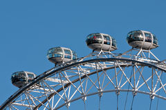 London Eye aka Millennium Wheel detail Royalty Free Stock Photography