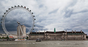 London Eye and Aquarium Royalty Free Stock Photos