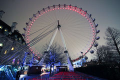 London Eye. Attraction landmark  at night Royalty Free Stock Photography