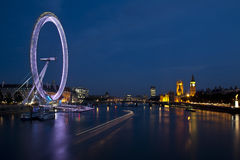 London eye and big ben Royalty Free Stock Photos