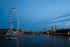 London eye and big ben Royalty Free Stock Images