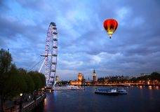 The London Eye and Big Ben Stock Photo