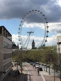 The London Eye and Big Ben Royalty Free Stock Photo
