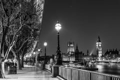 London Eye, Big Ben and Houses of parliament in London, UK. Royalty Free Stock Photos