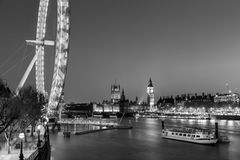 London Eye, Big Ben and Houses of parliament in London, UK. Stock Photography