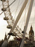 London Eye and Big Ben Stock Images