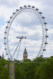 London Eye with Big Ben Stock Images