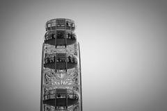 London Eye Black and White Stock Photography