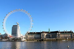 London Eye Blue Sky Stock Photos