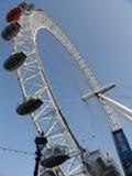 London Eye. With blue sky Stock Photos