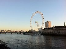 London Eye. In sunlight Stock Photography