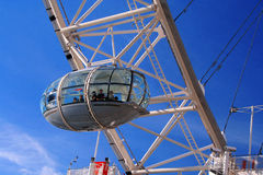 London Eye Cabin. Detail of London Eye by the River Thames Stock Photography