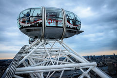 London Eye cabin - high in the sky Royalty Free Stock Images
