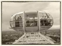 London Eye cabins in London stock images