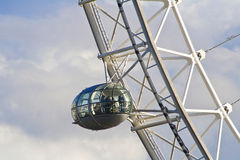 London Eye capsule against the skies Royalty Free Stock Photos