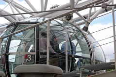 London Eye Capsule. Royalty Free Stock Images