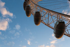 London Eye capsule seen from the just below Royalty Free Stock Photo