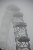 London Eye capsules in a mist Stock Photos