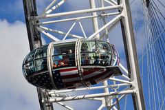 London Eye capsules Royalty Free Stock Images